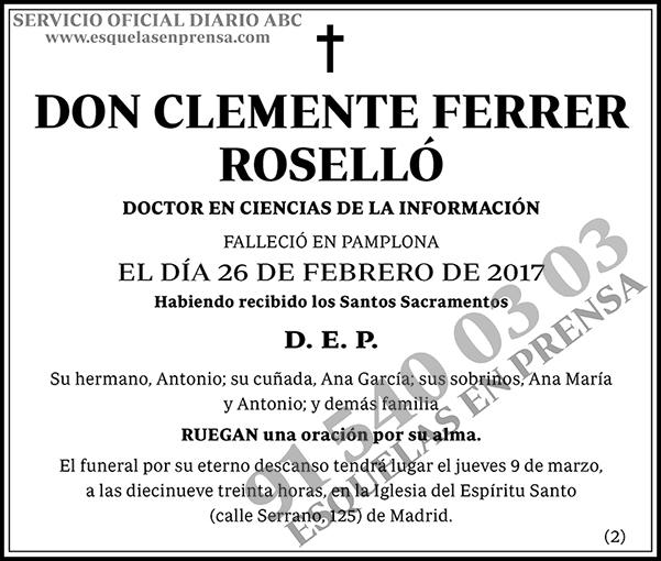 Clemente Ferrer Roselló